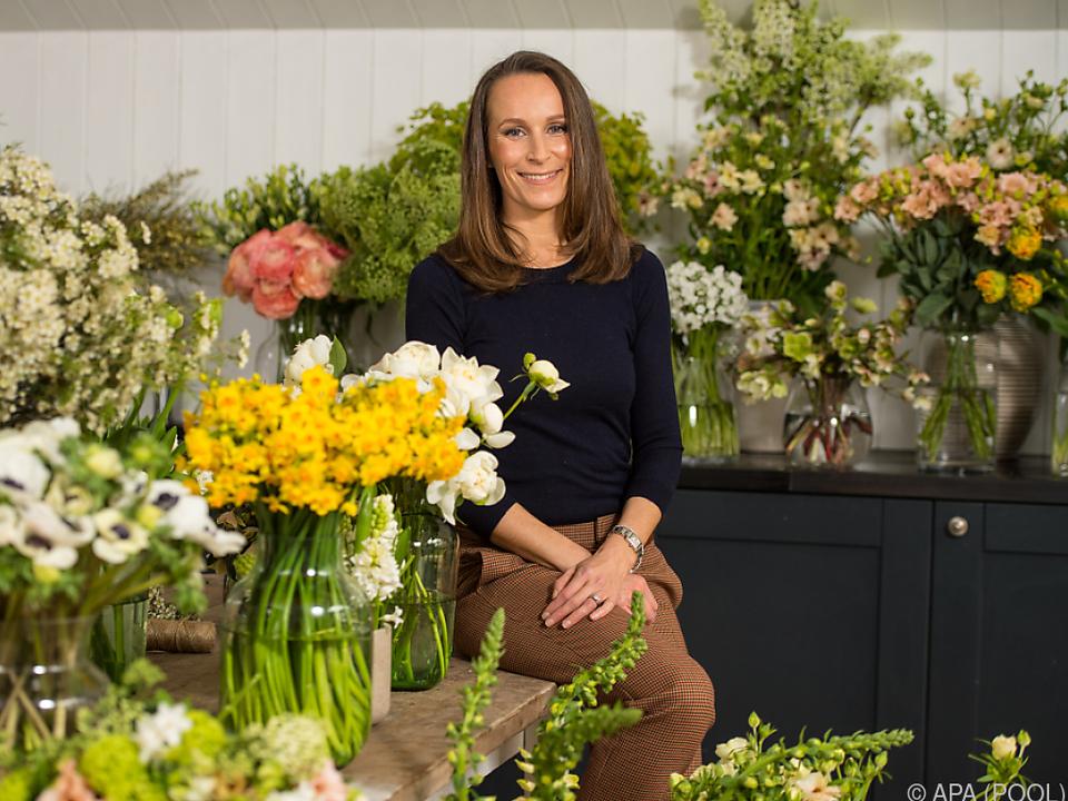Floristin Craddock ist für den Blumenschmuck zuständig