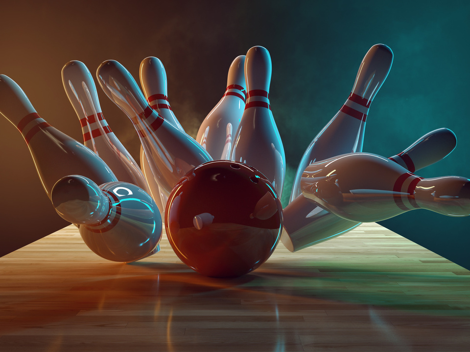 Bowling kegeln sym