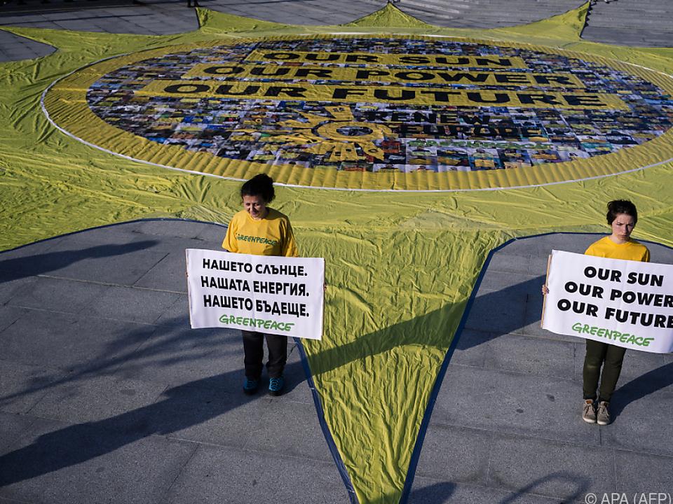 Greenpeace nutzte das informelle EU-Treffen für Botschaften