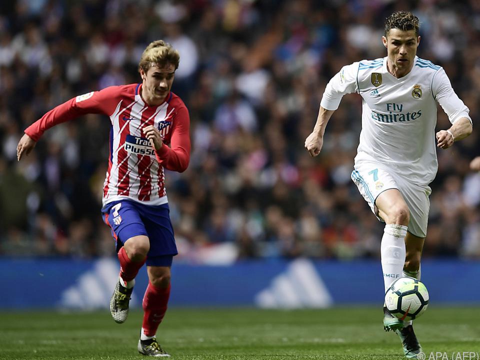 Grizmann und Ronaldo im Laufduell