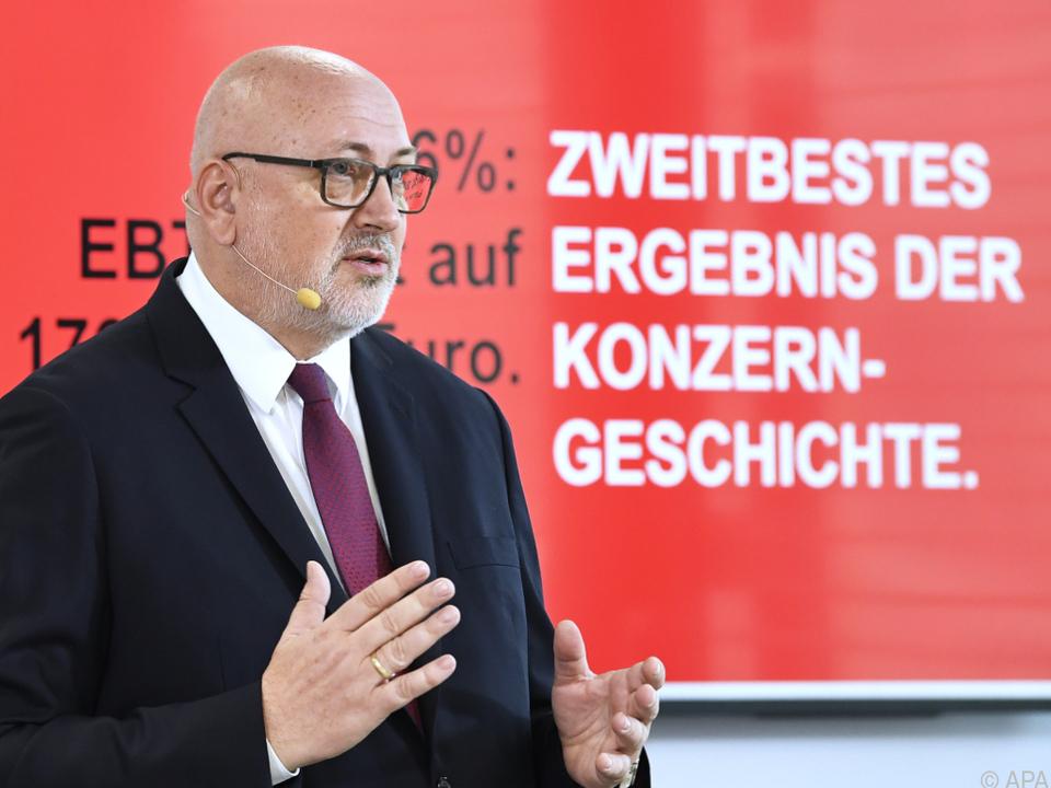 Grund zur Freude für ÖBB-Chef Andreas Matthä