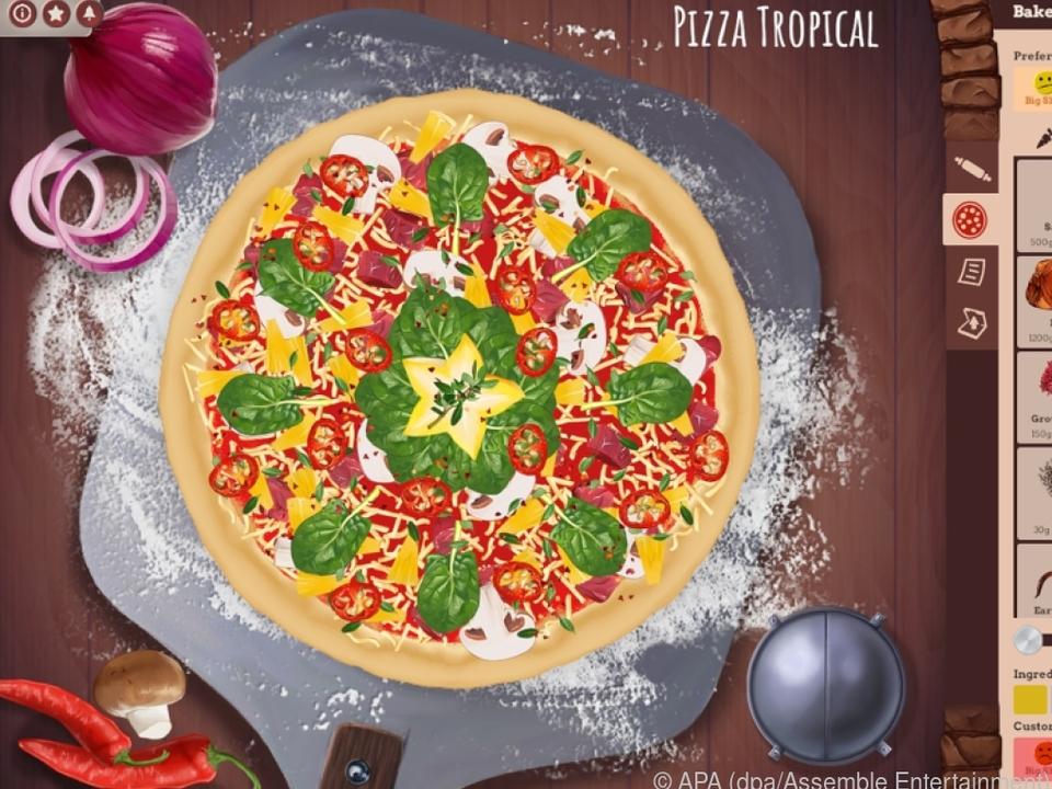 Im Pizza Creator erschaffen Spieler ihre eigenen Kreationen