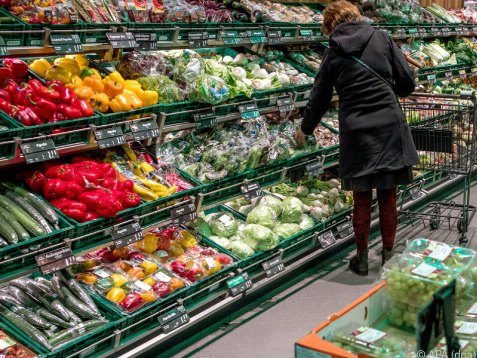 Im Supermarkt funktioniert die Kennzeichnung