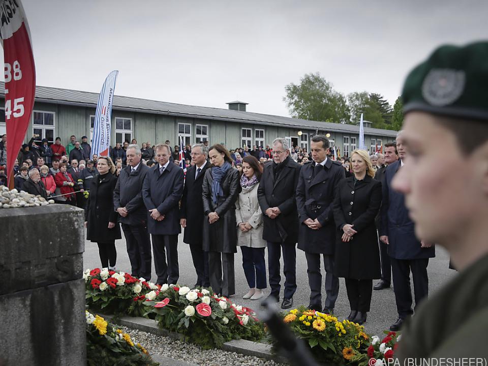 Im Vorjahr waren Präsident, Kanzler und Vizekanzler in Mauthausen