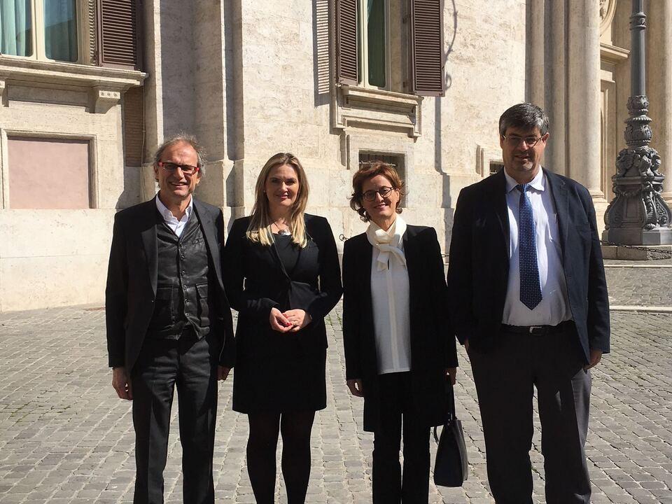 Manfred Schullian, Renate Gebhard, Emanuela Rossini und Albrecht Plangger