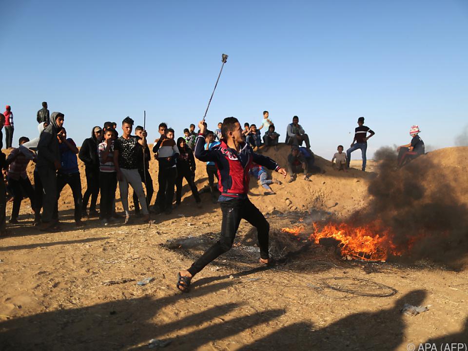 Insgesamt starben 41 Palästinenser bei Zusammenstößen seit Ende März
