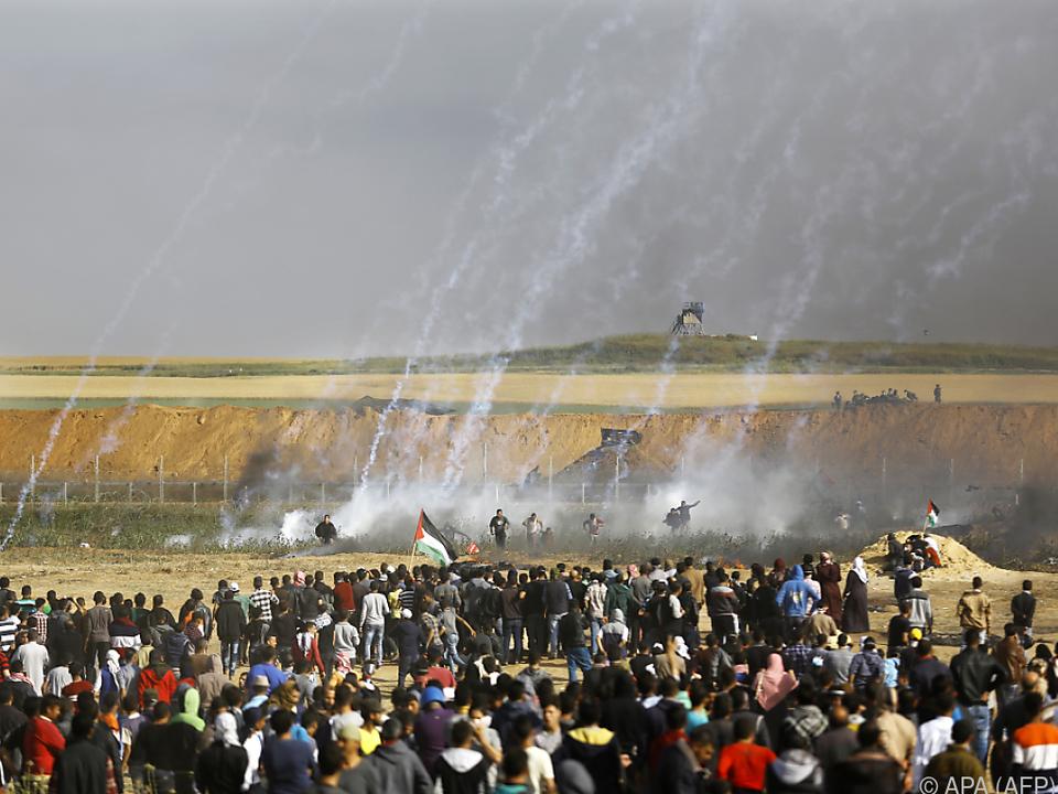Israelische Armee reagierte nicht nur mit Tränengas