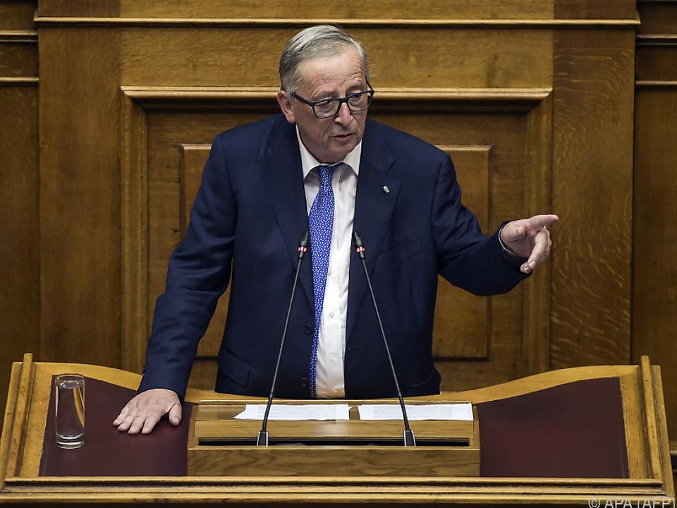 Juncker sprach im griechischen Parlament