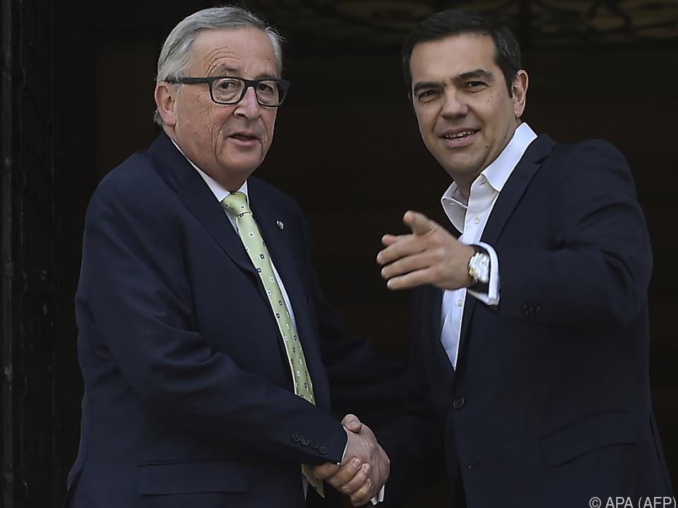 Juncker traf griechischen Premier Tsipras in Athen