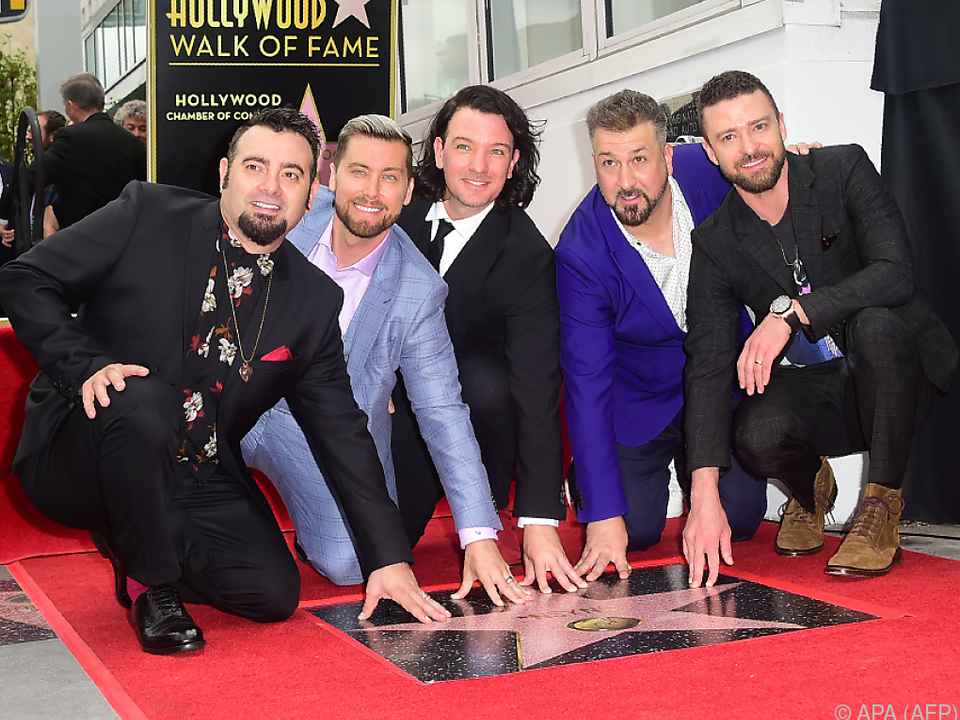 Justin Timberlake und Co freuen sich über ihren Stern