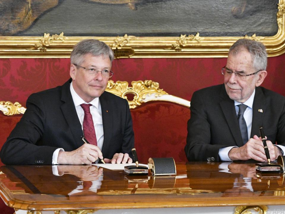 Kaiser in der Hofburg in Wien