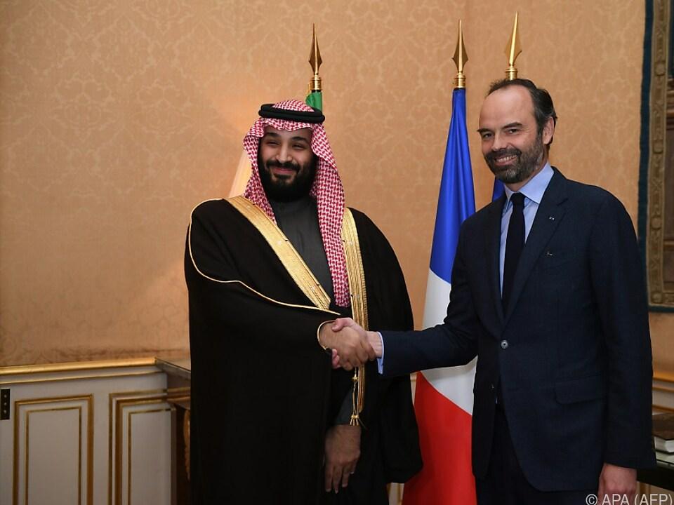 Kronprinz Mohammed bin Salman zu Besuch in Paris