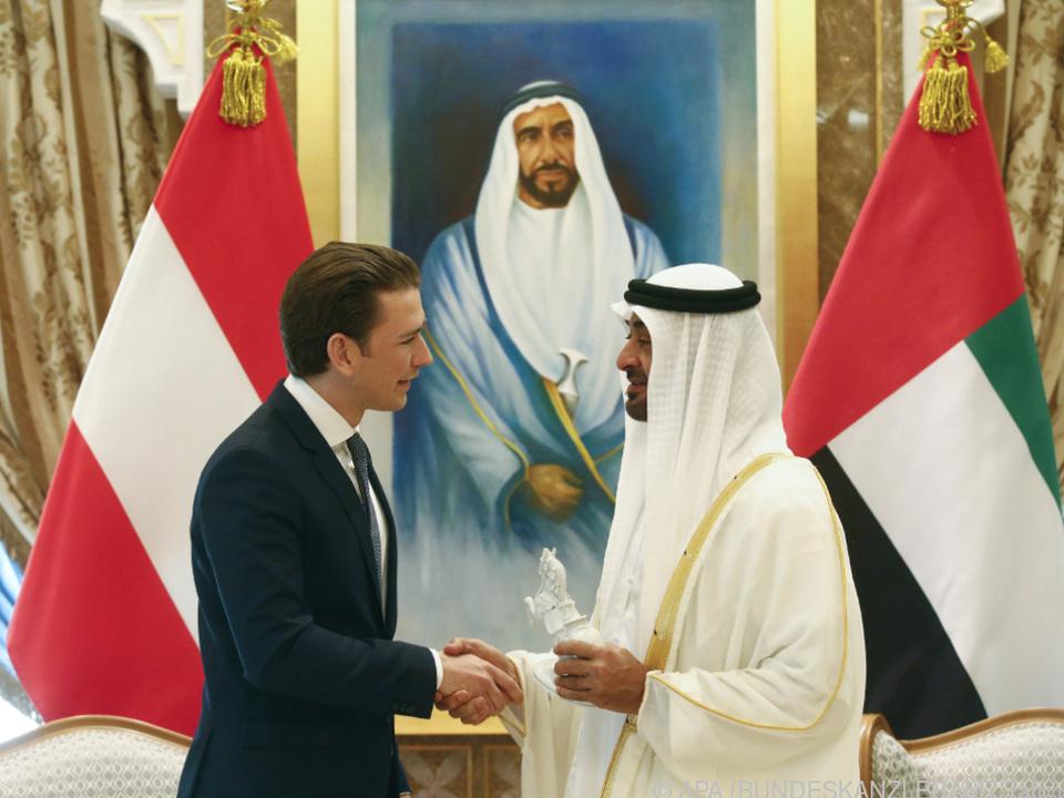 Kurz traf Kronprinz Scheich Mohammed bin Zayed al-Nahya