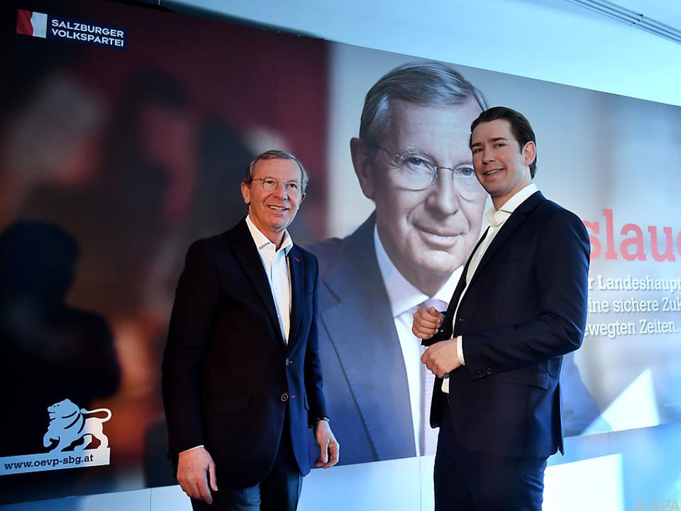 Landeshauptmann Haslauer mit Bundeskanzler Kurz