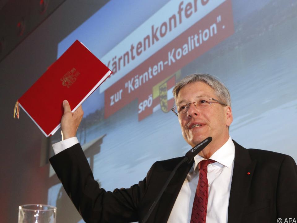Landeshauptmann Peter Kaiser bei \