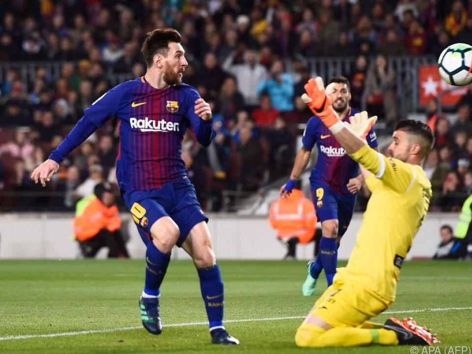Lionel Messi schnürt den Triplepack