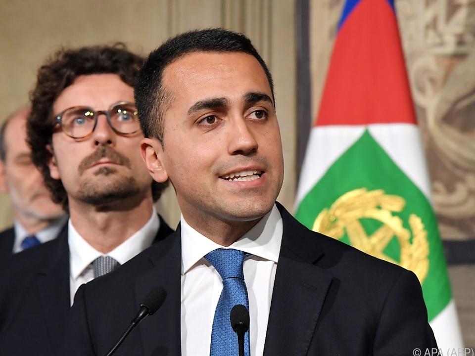 Luigi Di Maio hofft auf gemeinsame Regierung mit der Lega