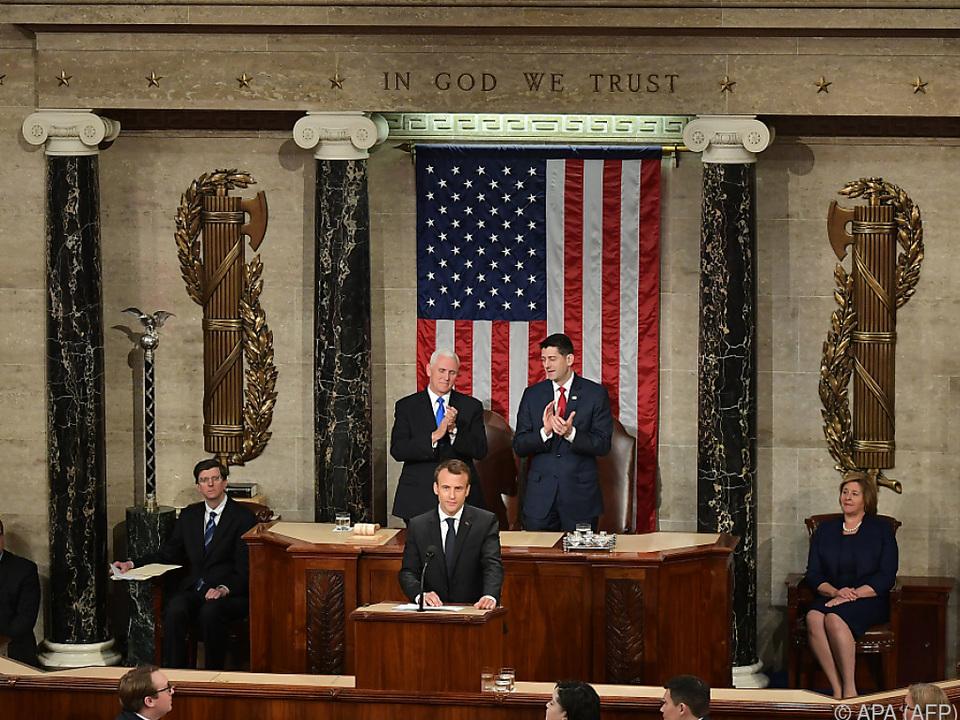 Macron sprach vor den beiden Kammern des Kongresses