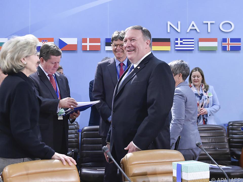 Mike Pompeo beim NATO-Treffen in Brüssel