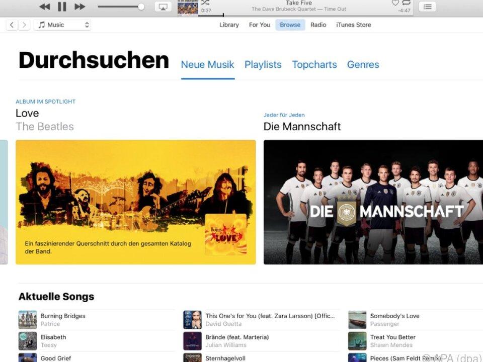 Mit iTunes hat man Zugriff auf Filme, Musik und Hörbücher