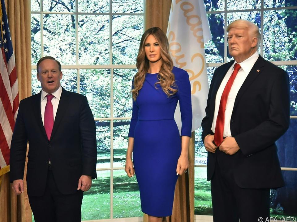 Neue Wachsfigur der First Lady Melania Trump