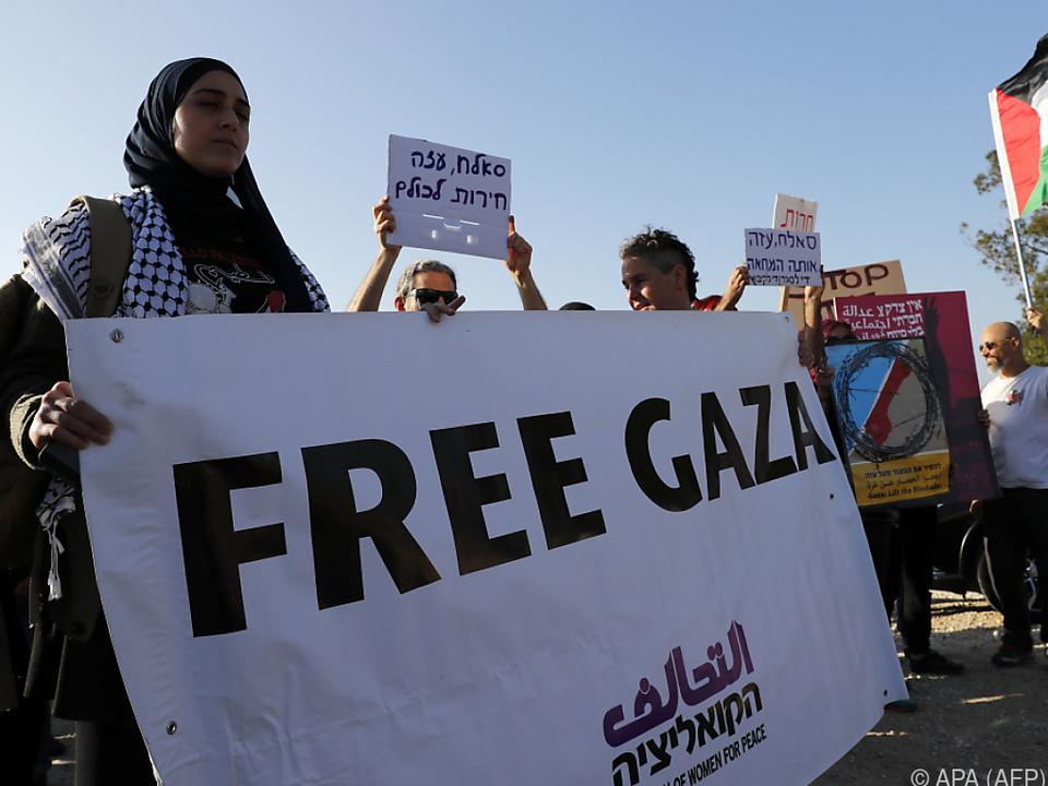 Palästinenser demonstrieren weiter