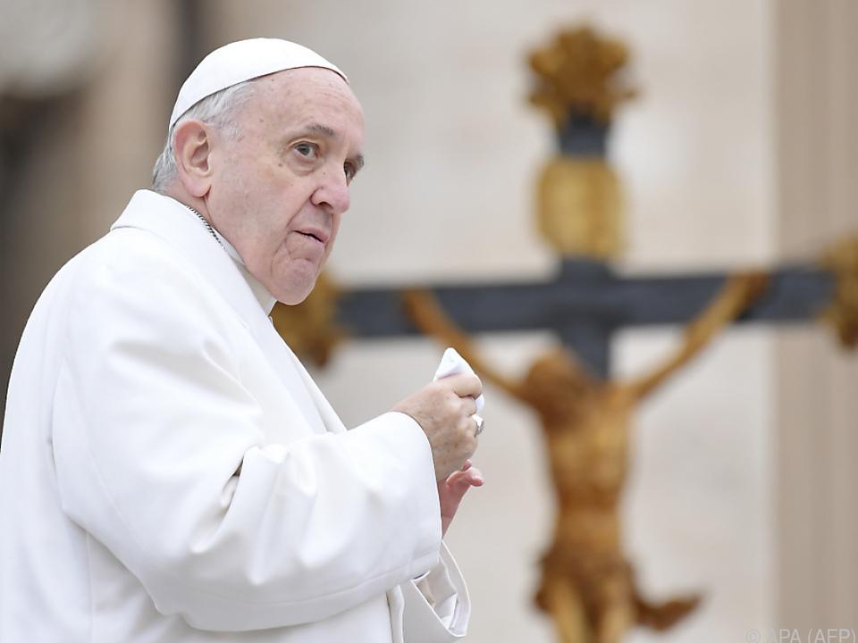 Papst Franziskus redet den Katholiken ins Gewissen
