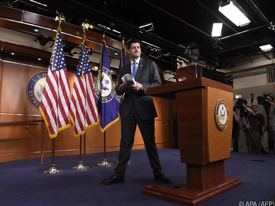 Paul Ryan möchte sich mehr um seine Familie kümmern