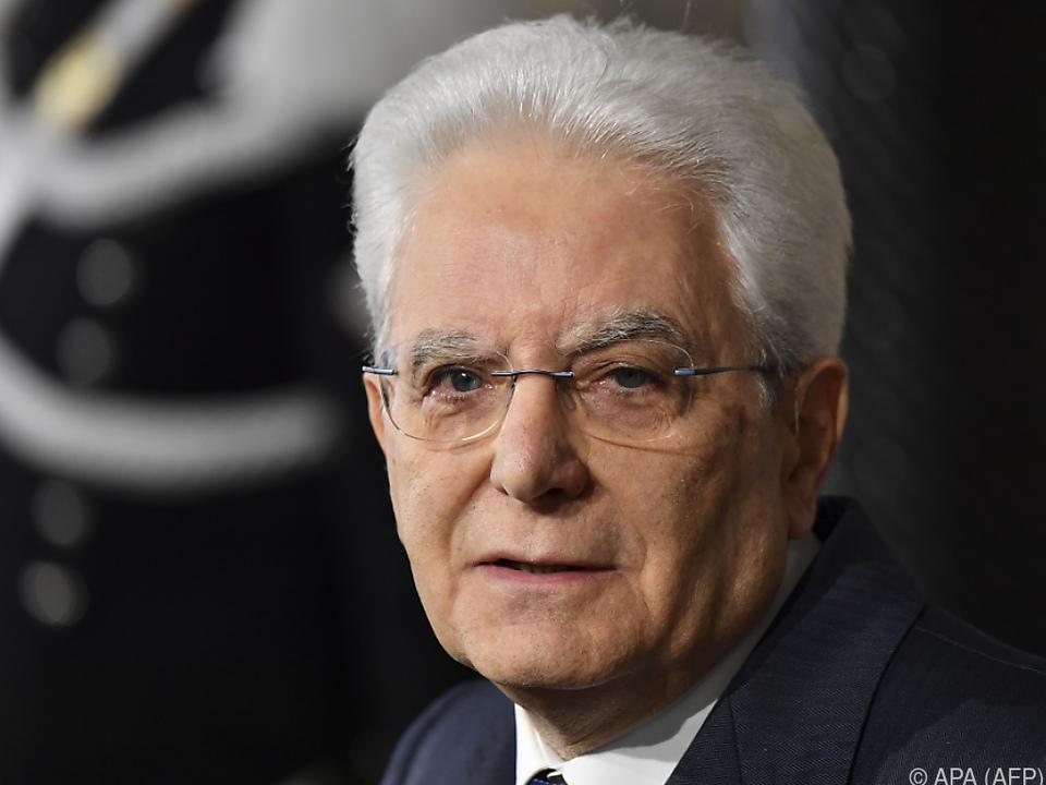 Präsident Sergio Mattarella führt neuerlich Gespräche