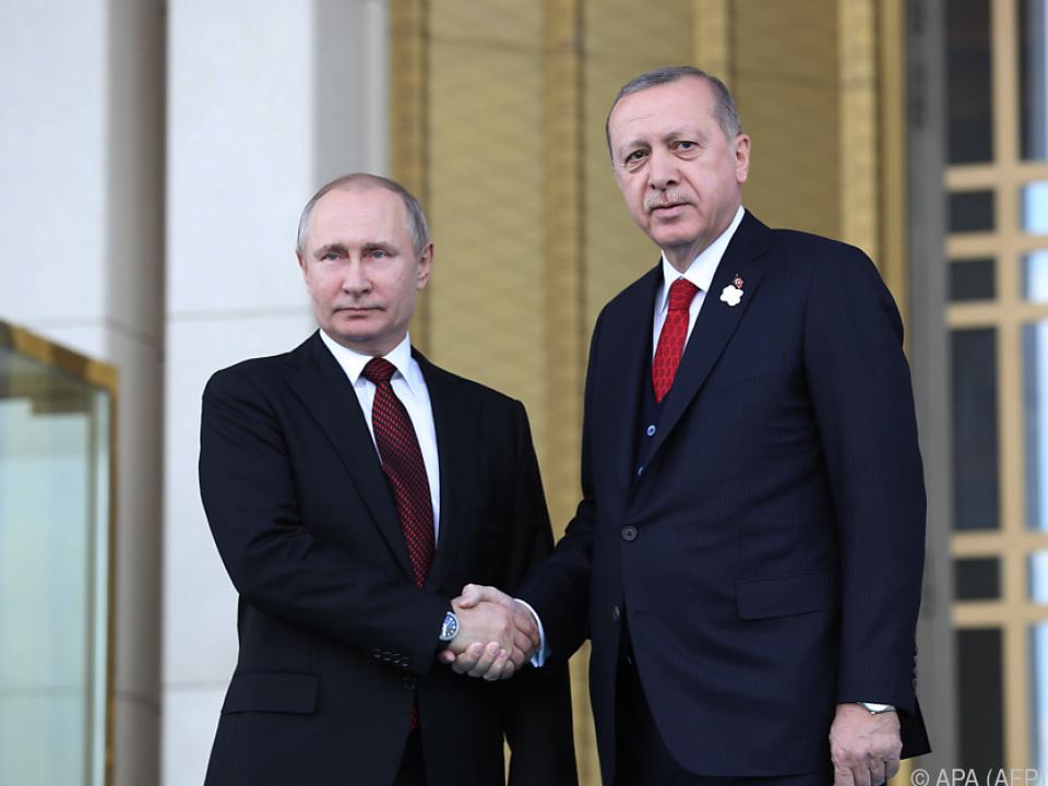 Putin beim Treffen mit Erdogan in Ankara