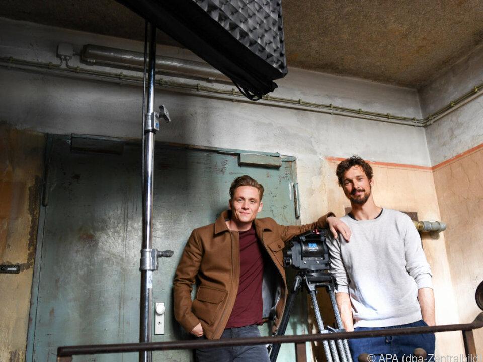 Schweighöfer und Fitz bei den Dreharbeiten des Films