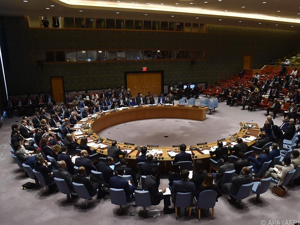 Sitzung des UNO-Sicherheitsrates in New York