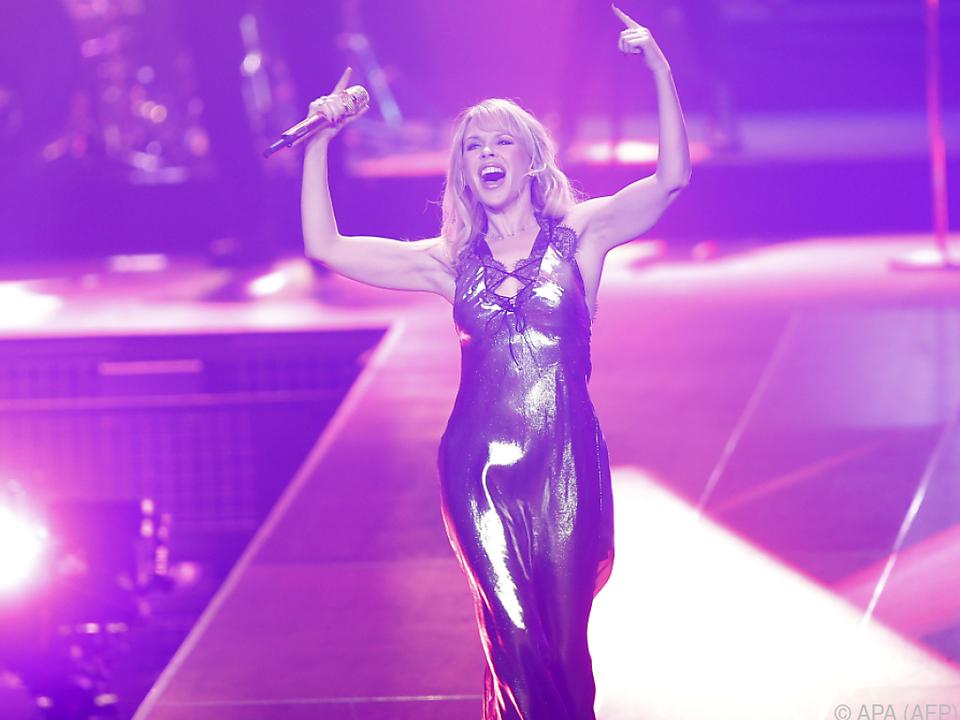 Kylie Minogue lockerte mit ihrem Auftritt die Echos auf