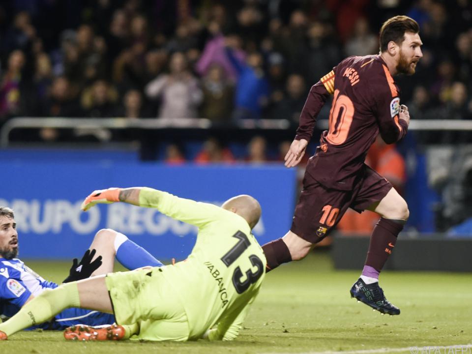 Superstar Lionel Messi machte es wieder fast im Alleingang