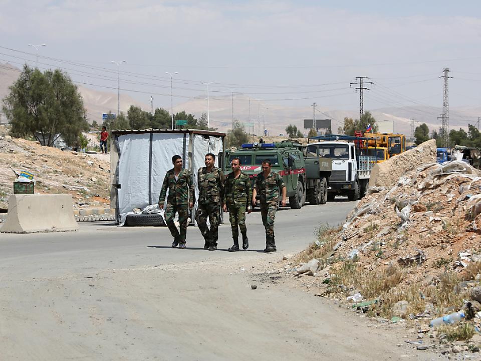 Syrische Soldaten in Ost-Ghouta