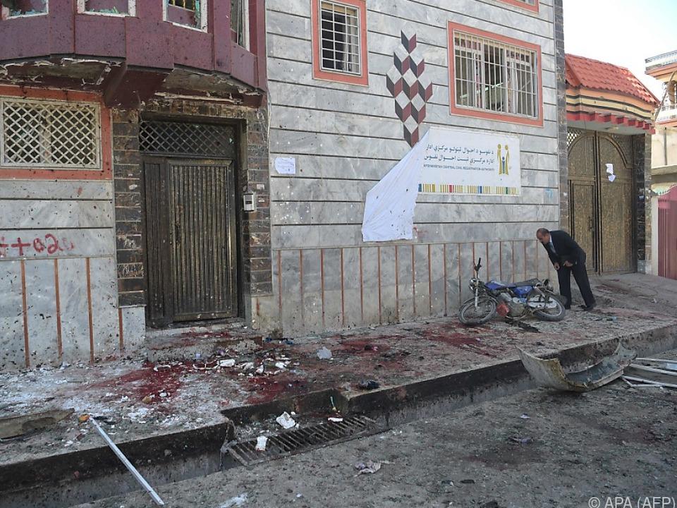 Szenen der Zerstörung in Afghanistans Hauptstadt