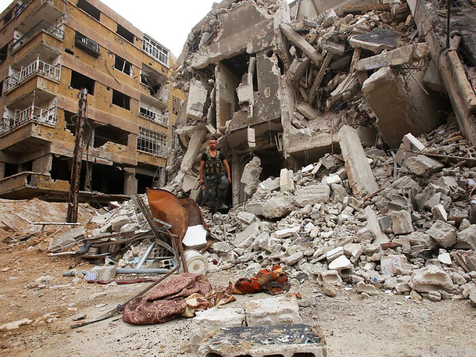 Totale Zerstörung in Ost-Ghouta