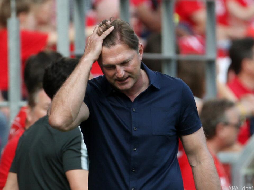 Trainer Ralph Hasenhüttl mit RB Leipzig in der Krise
