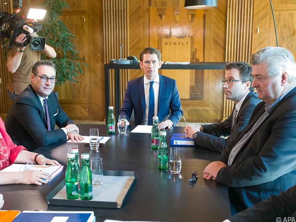 Treffen im Bundeskanzleramt