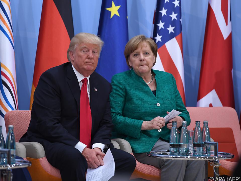 Trump und Merkel haben bisher kein inniges Verhältnis