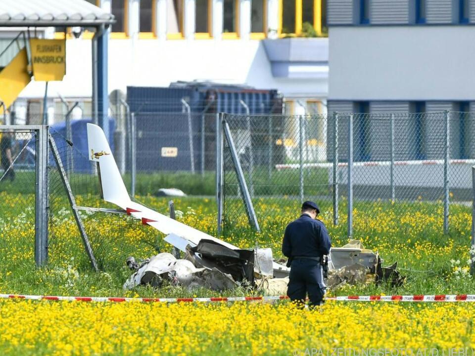 Unfall in der Nähe des Flughafens Innsbruck