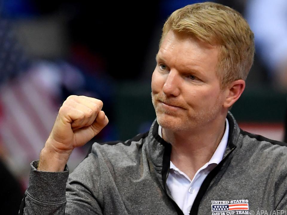 US-Teamkapitän Jim Courier darf sich freuen