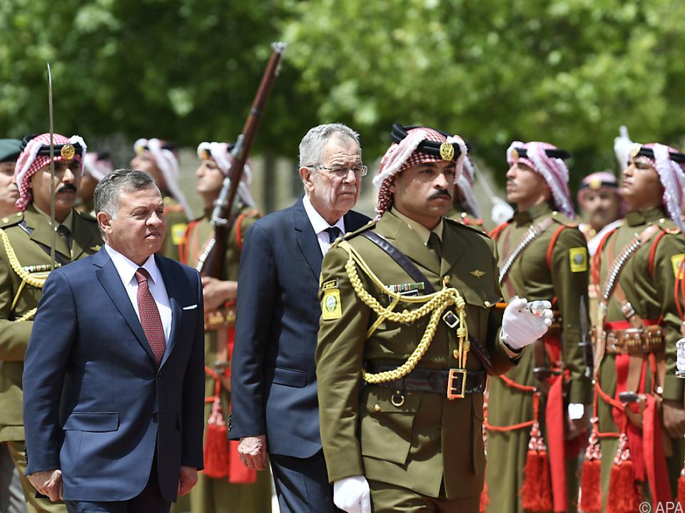 Van der bellen auf Staatsbesuch in Jordanien