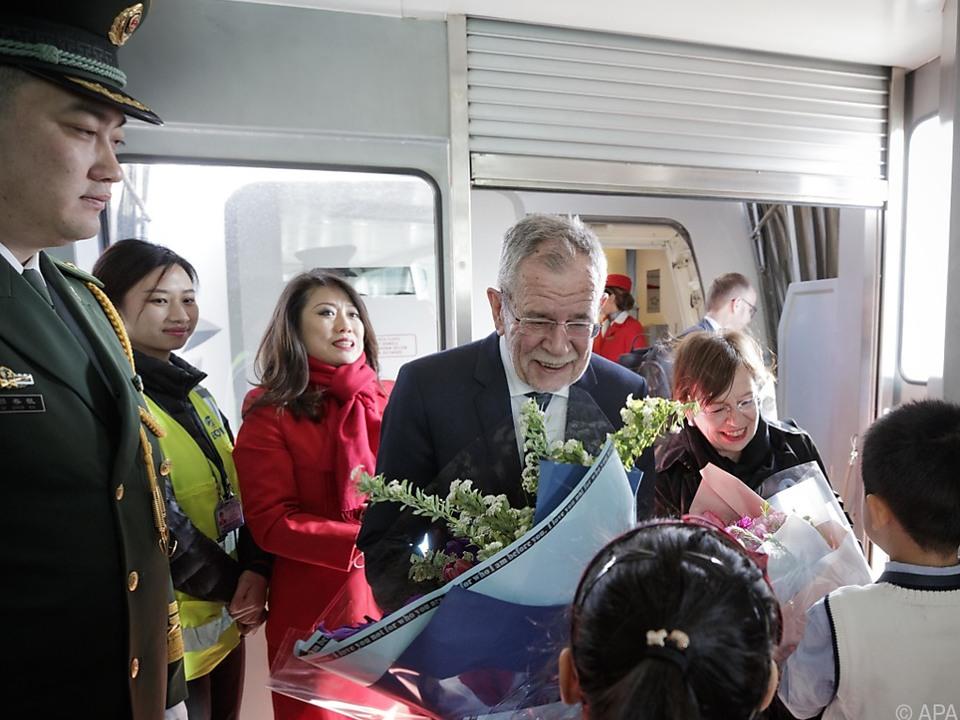 Van der Bellen in Peking angekommen