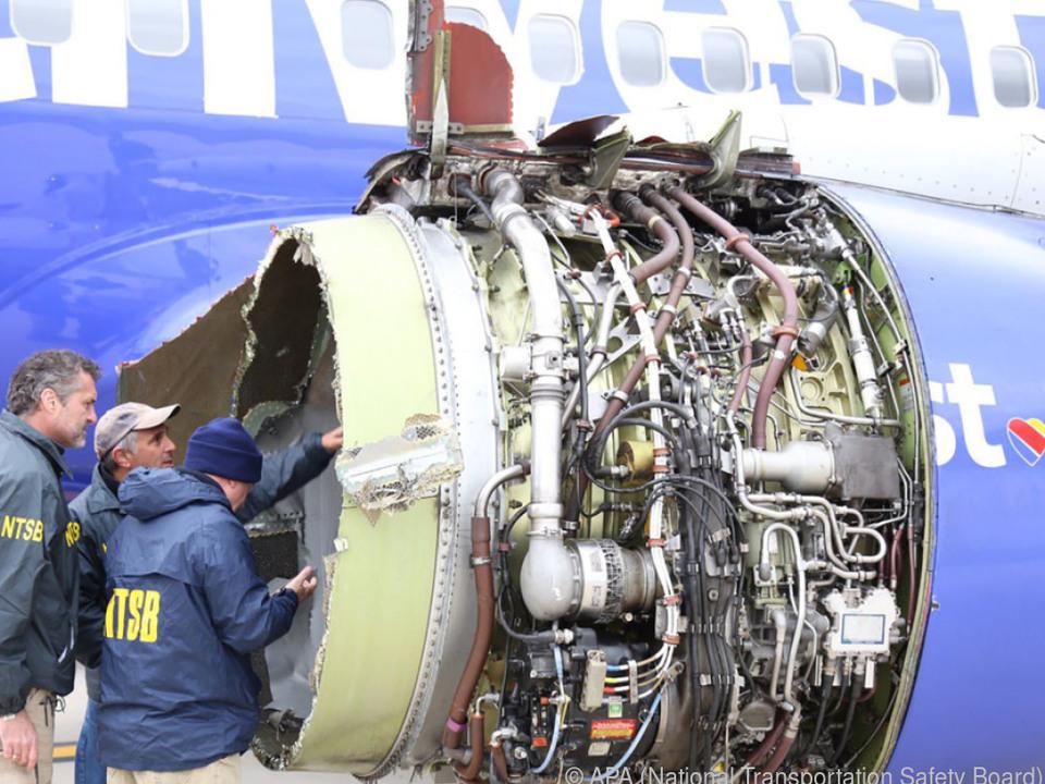 Vor wenigen Tagen war das Triebwerk während des Flugs explodiert