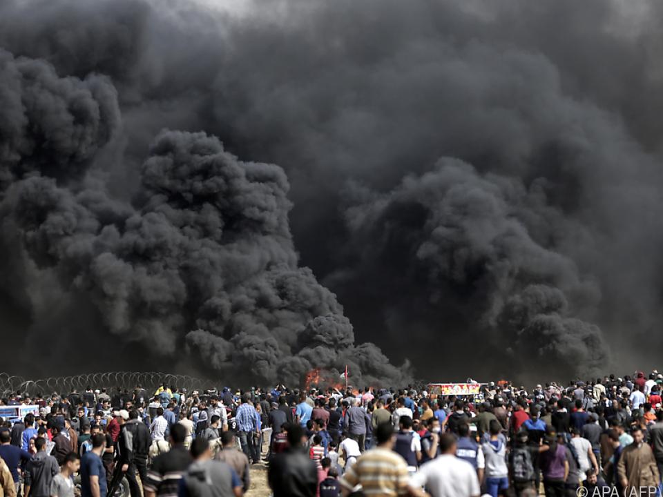 Weiterhin Proteste an der Grenze zu Israel