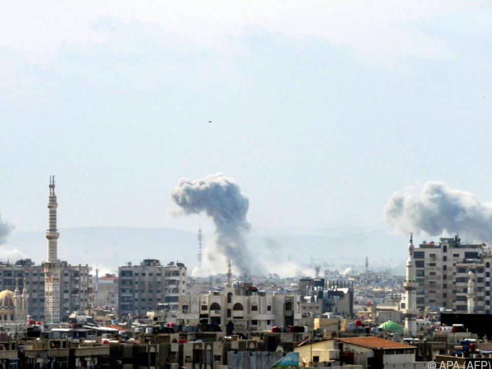 Wieder Gefechte in Damaskus
