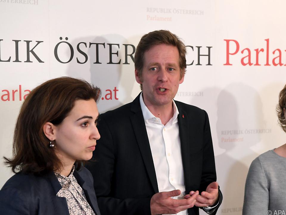 Zadic, Krainer und Krisper sprechen über gemeinsamen Antrag