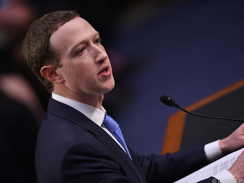 Zuckerberg bezog im US-Kongress Stellung