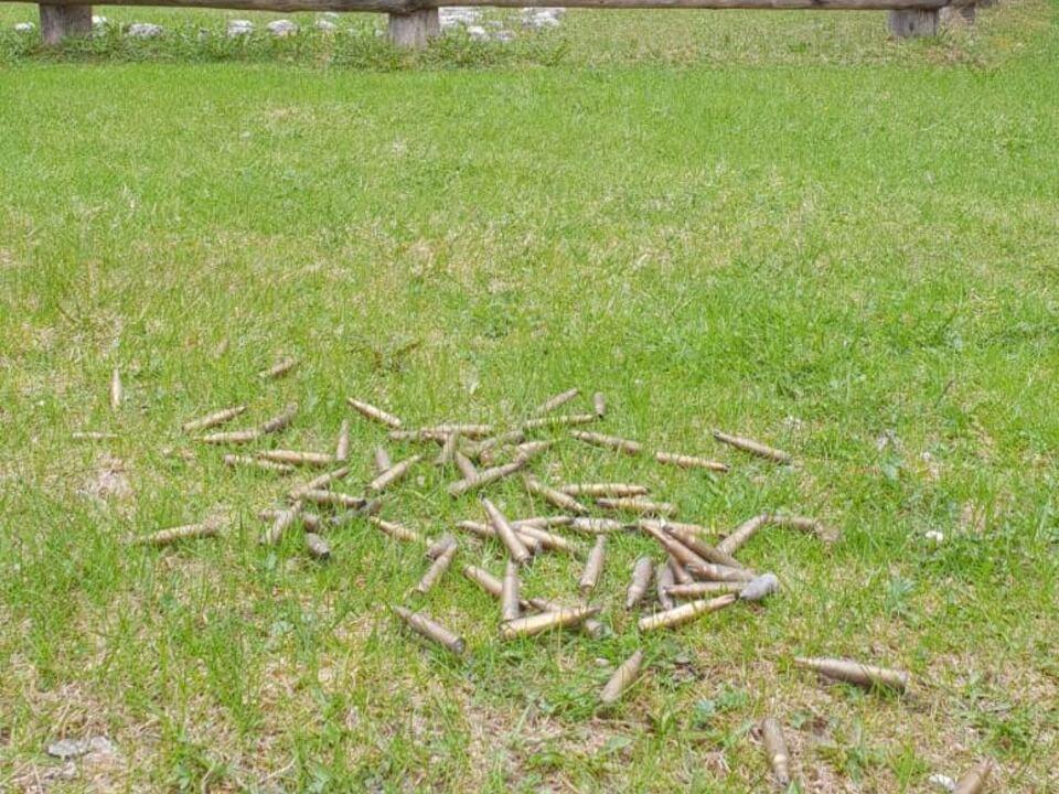 Munition Patronenhülsen Naturpark Fanes-Sennes-Prags